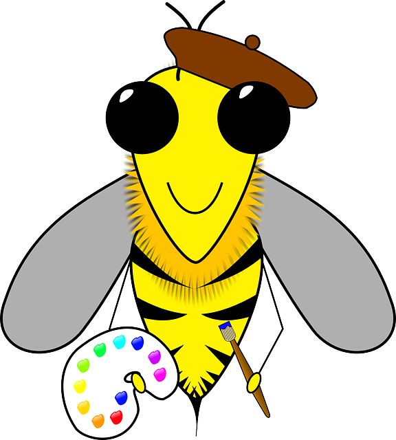 Bee Art Busy 183 Free Vector Graphic On Pixabay