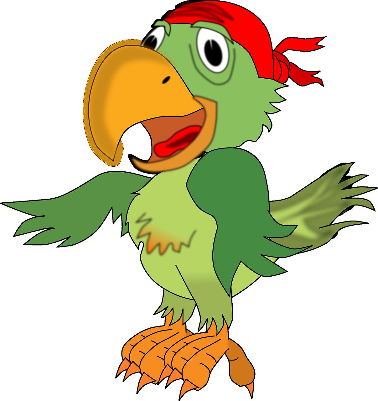 Пиратский попугаи картинки для детей