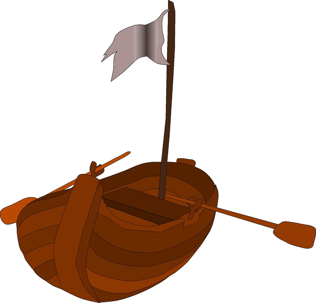 как нарисовать лодку пиратов