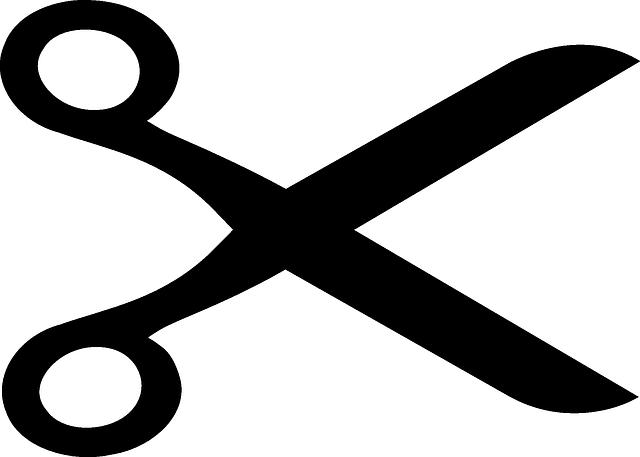 immagine vettoriale gratis forbici ritaglio tagliente