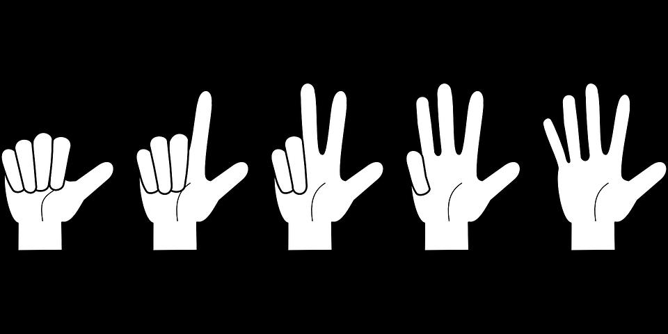 Картинка считаем пальчики