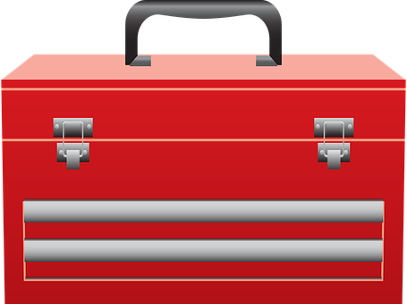 Toolbox, Tools, Carrier, Case, Red