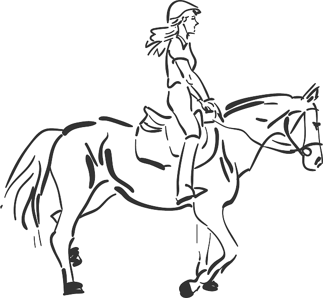 Free Vector Graphic Horse Riding Girl Free Image On
