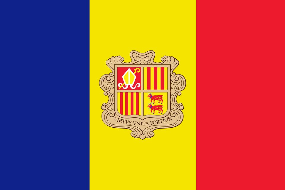 Andorra, Bayrak, Ulusal Bayrak, Ulus, Ãœlke, Ensign