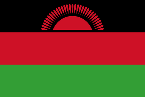 Malawi Flag National Flag Nation Country E
