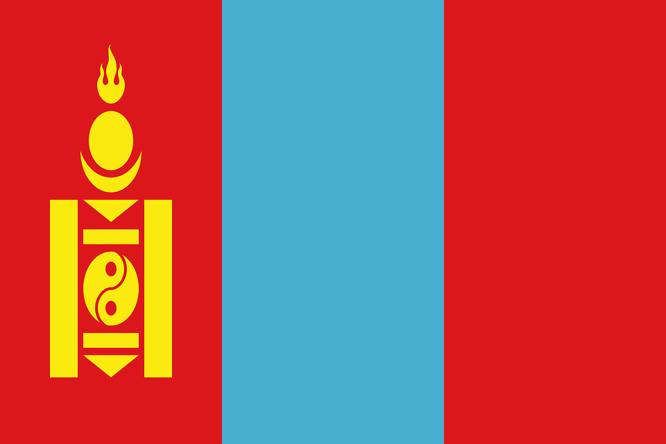 Mongolia, Flag, National Flag, Nation, Country, Ensign