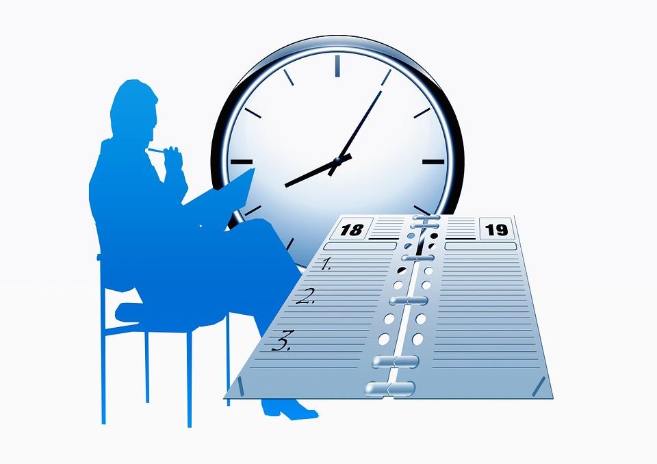 Ilustraci n gratis reloj tiempo calendario agenda for Horario oficina de empleo