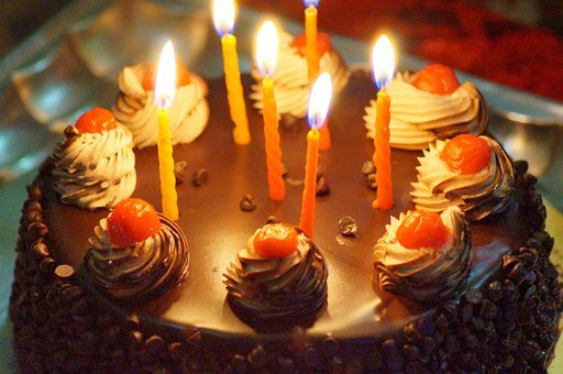 Birthday Cake Candles Celebration Celebrat
