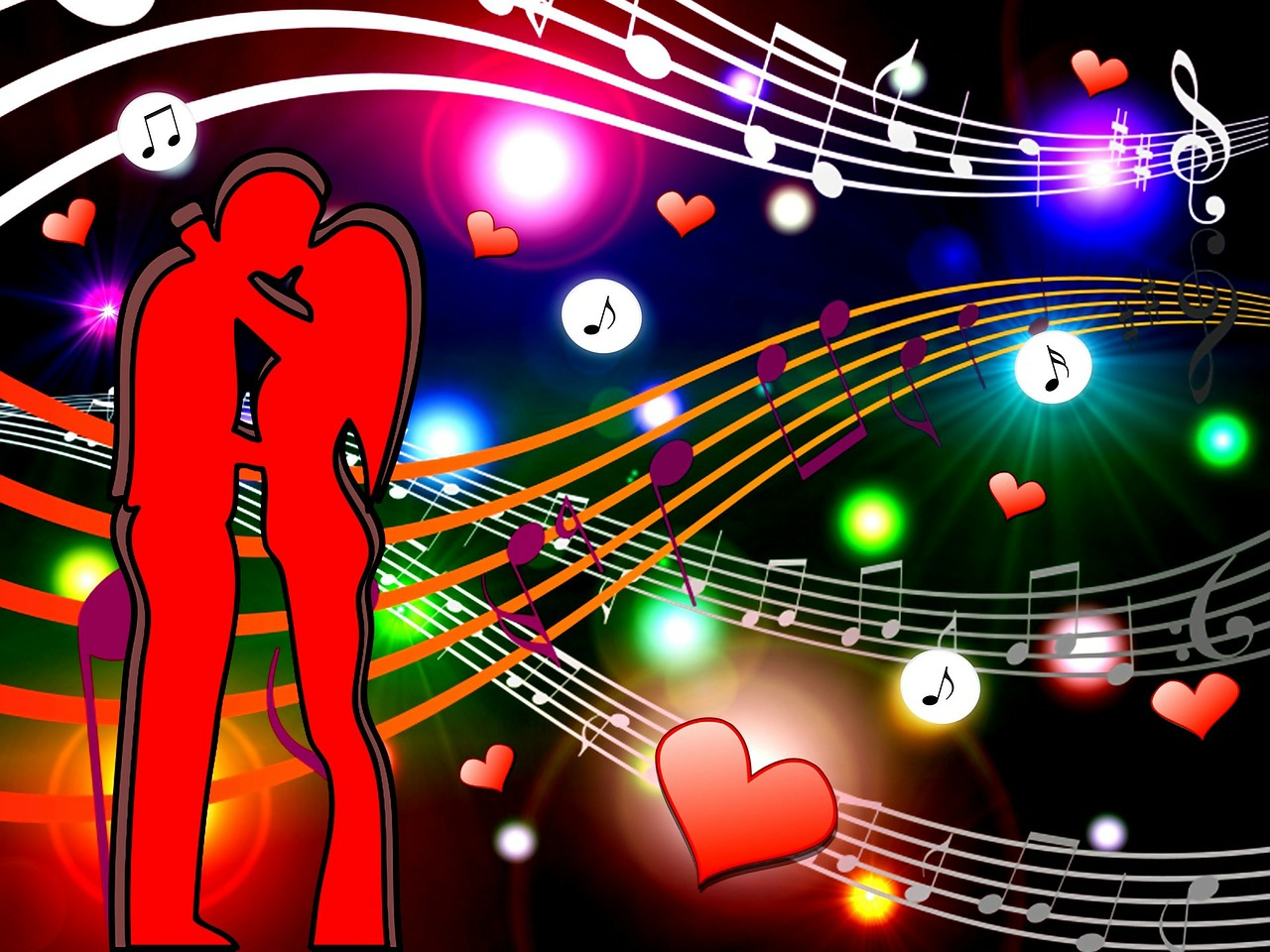 Открытки музыкальные о любви