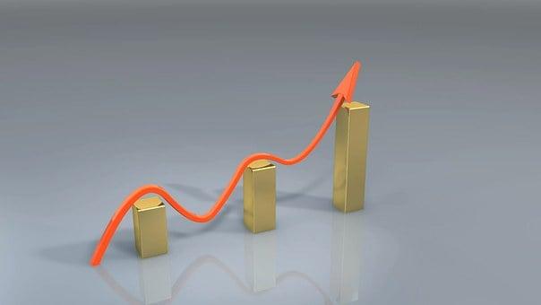 ビジネス, 成功, 受賞, グラフ, 矢印, 成長, ファイナンス