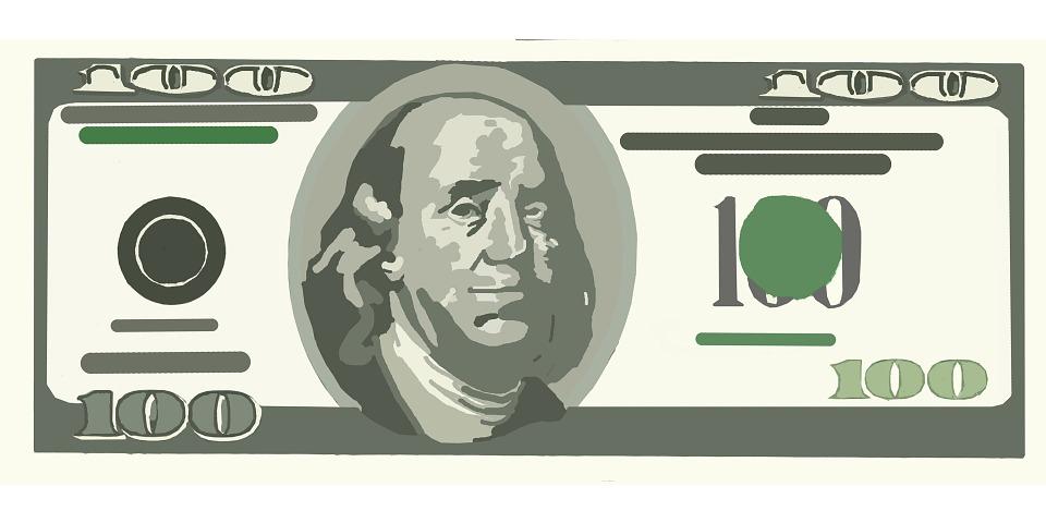 one hundred dollar free image on pixabay rh pixabay com dollar bill clip art free printable dollar bill clip art free printable