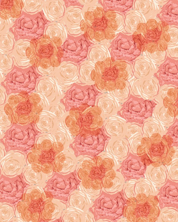 free illustration peach pink girl background free