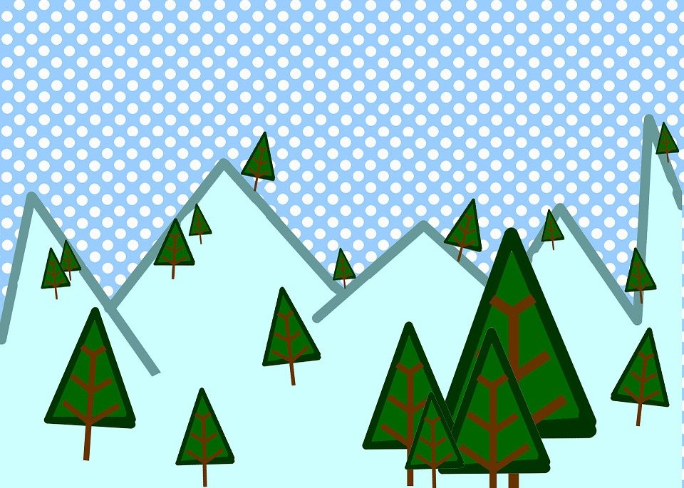 Free illustration winter woods snow scene trees free image on