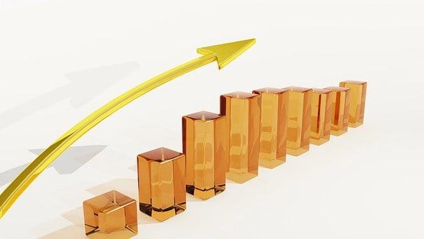 ビジネス, リスク, 運, グラフ, 矢印, 富, ファイナンス, 成功