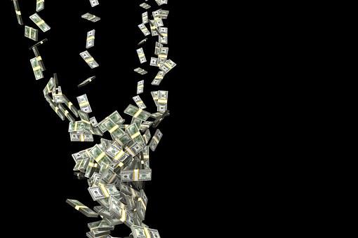 Queda, Furacão, Dinheiro, Finanças
