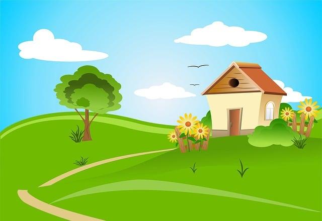 Free Illustration: House, Architecture, Design, Field