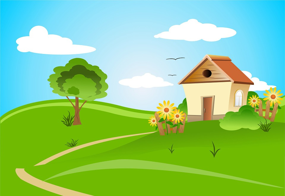 house on hill clipart - photo #6
