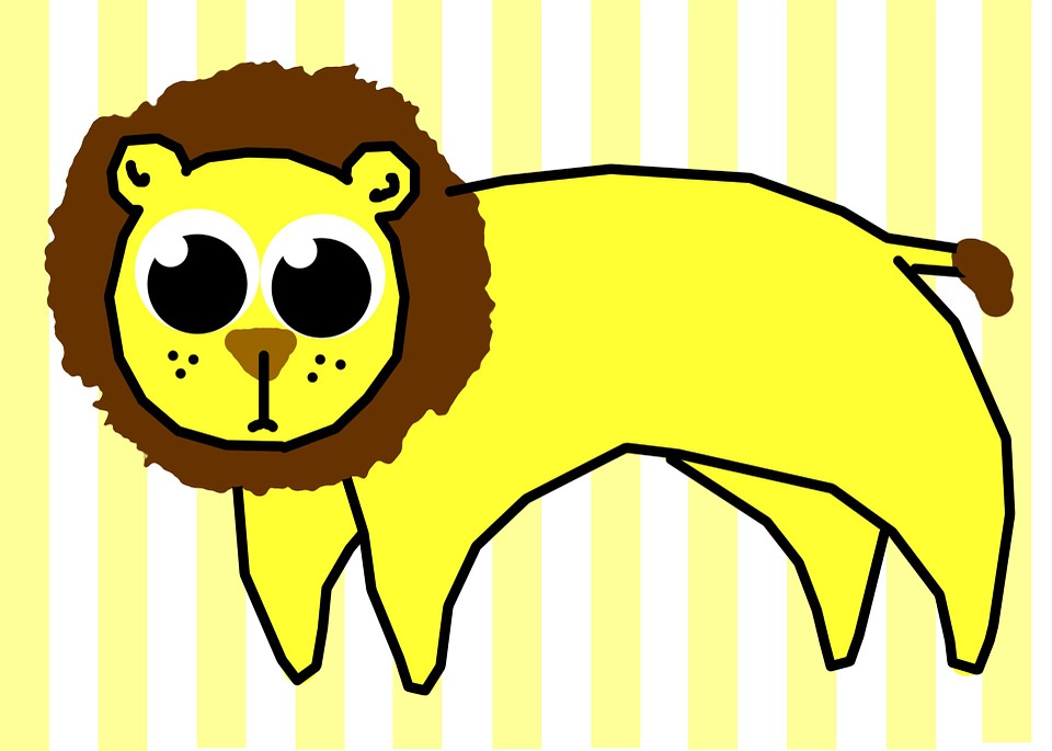 Free illustration: Lion, Stripes, Clip, Art, Cartoon - Free Image ...