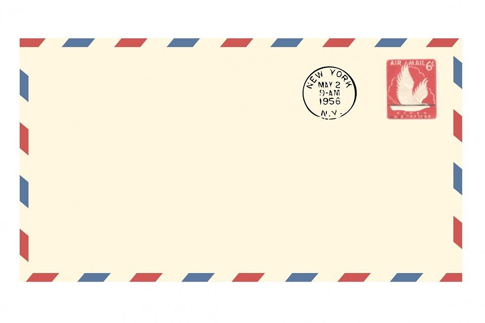 Elegant Airmail Envelope Vintage Airmail Envelope Blank