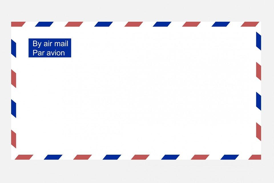 Free Illustration Airmail Envelope Airmail Envelope