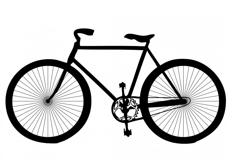 Free Illustration Black Shape Transport Bicycle Free Image