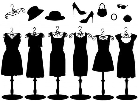 Dress, Dresses, Accessories, Black, Hat