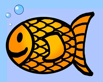 Goldfish Fish Outline Drawing Line Or