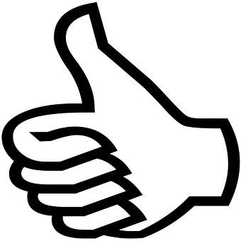 指, ジェスチャ, 良い, よく出来ました, 素晴らしい, ブラック, 手