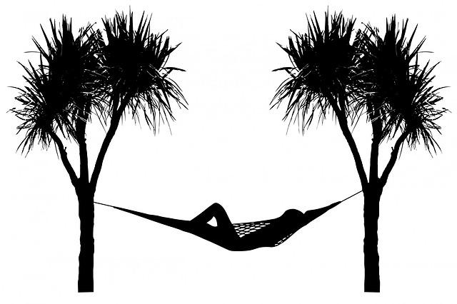 kostenlose illustration h ngematte baum b ume palme kostenloses bild auf pixabay 163647. Black Bedroom Furniture Sets. Home Design Ideas