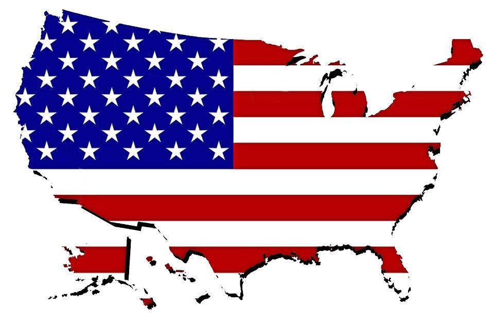Peta Amerika Serikat Bendera Gambar Gratis Di Pixabay