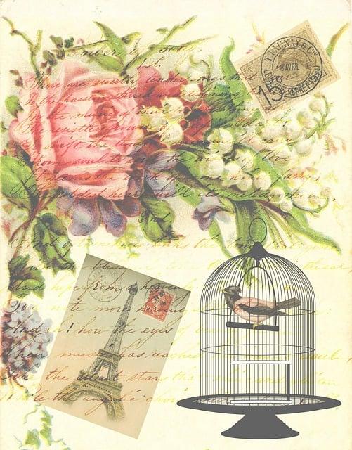 Extrêmement Illustration gratuite: Vintage, Victorienne, Oiseau - Image  UF32