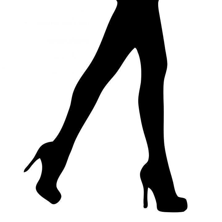 Benen, Vrouw, Vrouwelijke, Dame, Meisje, Black
