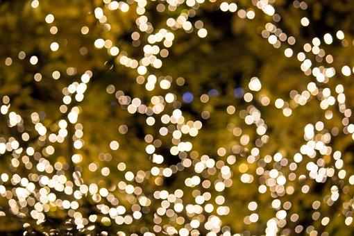 Lights, Holiday, Bright, Glow, Celebrate