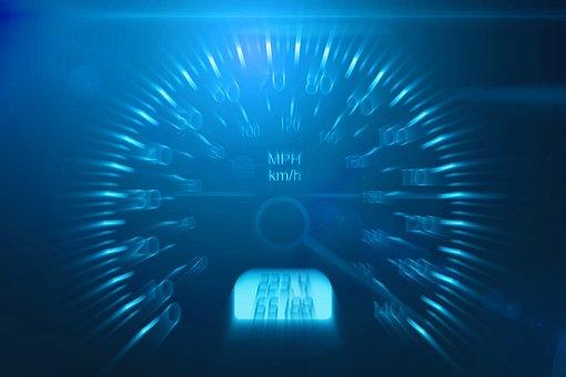 速度, 車の制限, 危険, ガス, 自動, 車, 高速, フライ, 速度計