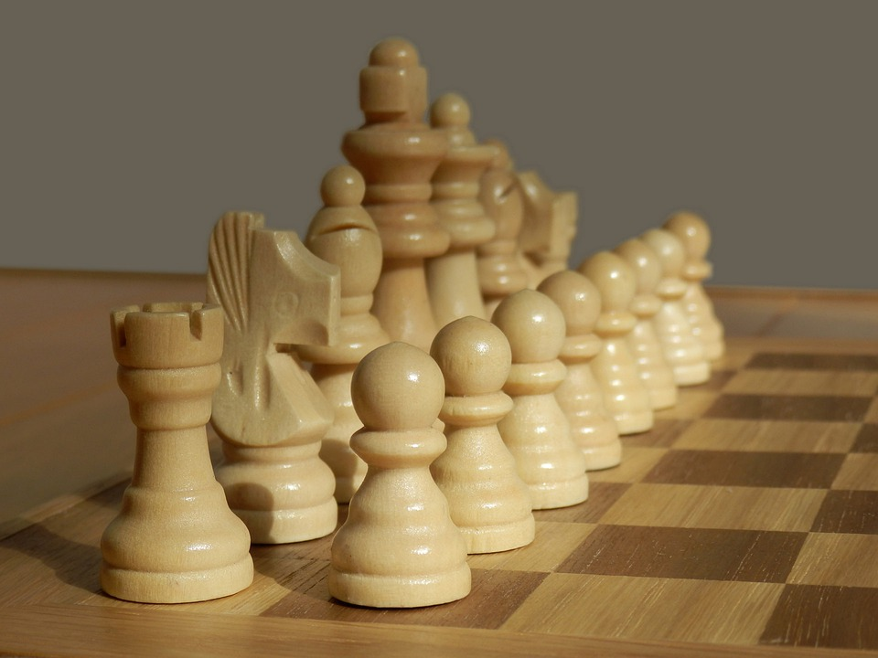 Free Photo White Pieces Chess Set Game Free Image