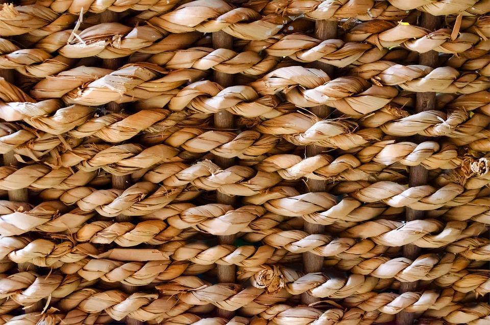 Korb Palm Oberfläche Tapete Rau Verwoben