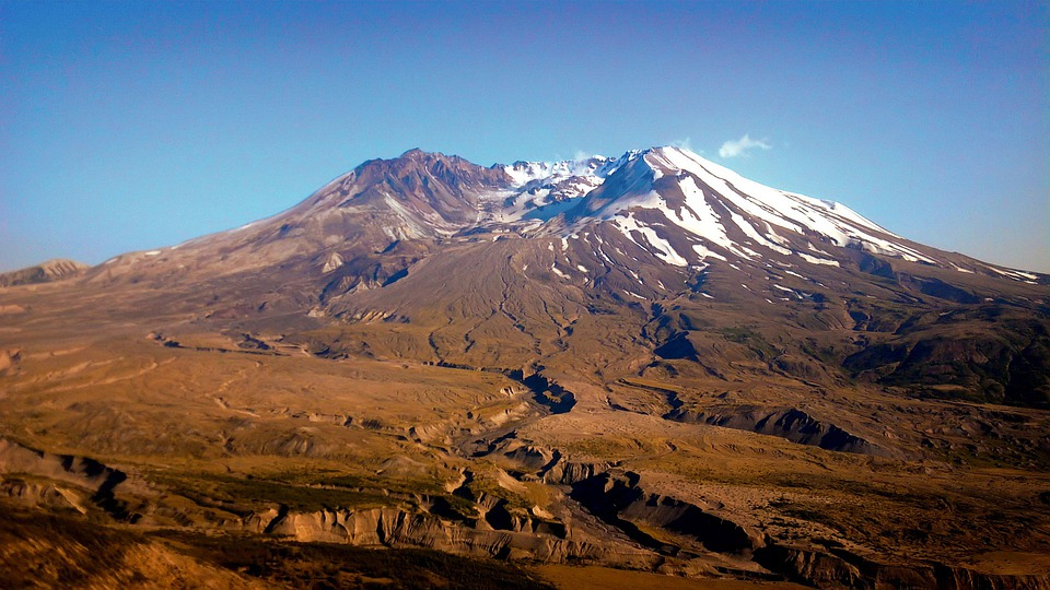 Mount St Helens, Mountain, Volcano, Snow, Active