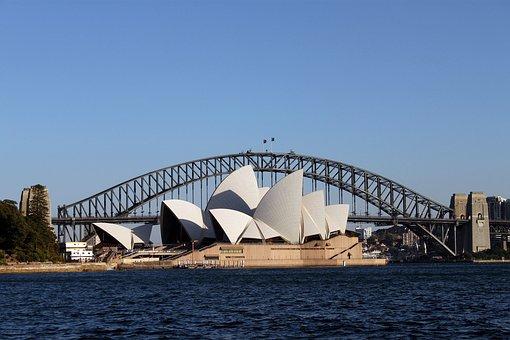 Sydney in 7 Tagen - Oper und Harbour Bridge vom Botanischen Garten gesehen