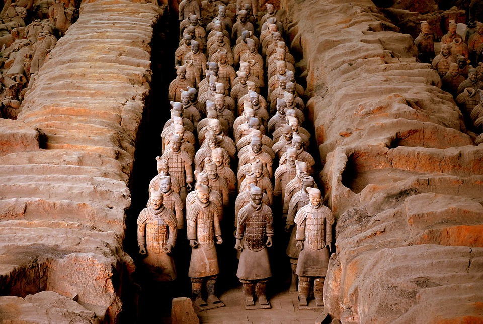 In Terracotta, Guerriero, Cina, Soldato, Antica, Storia