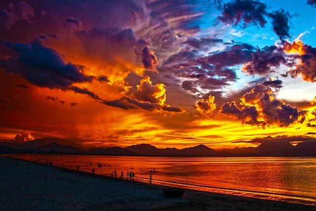 Free Photo Beach Lagoon Sunset Sundown Free Image On