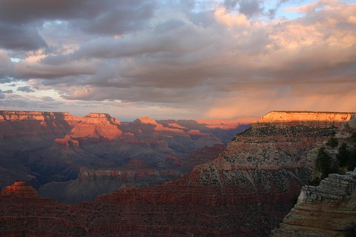 Grand Canyon, Sunset, Park, Landscape