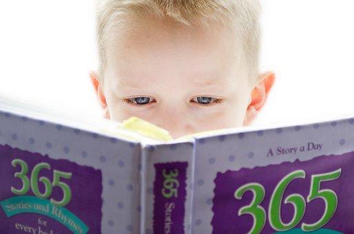 学习, 发展, 寻找, 人, 儿童, 阅读, 书, 可爱, 重点, 软, 打开