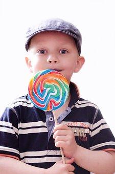 Child, Kid, Boy, Snack, Lollypops