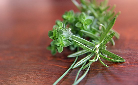 Herbs, Rosemary, Parsley, Thyme, Chives