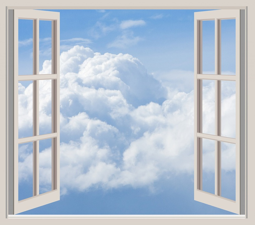 Open Window Clipart Clipart Suggest: Clouds Window Frame · Free Photo On Pixabay
