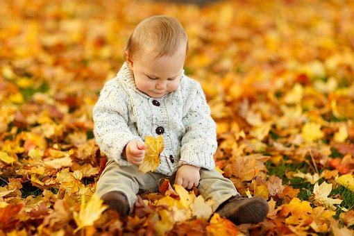 Herbst Baby Boy Kinder Niedlich Kind Im Fr