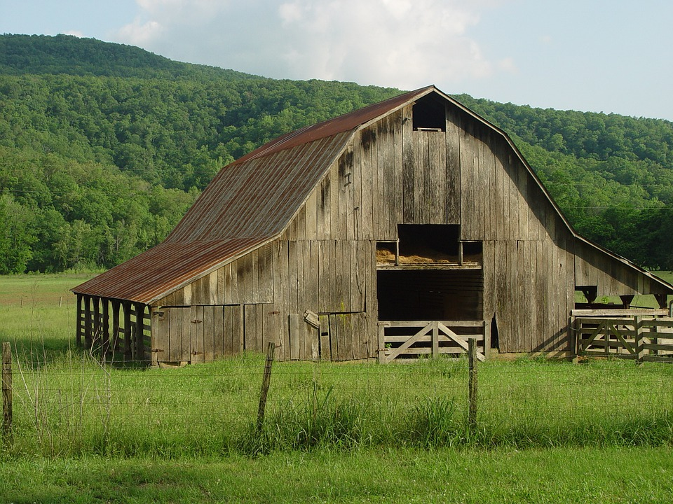 Barn Old Abandoned Rustic Farm Wood Wooden