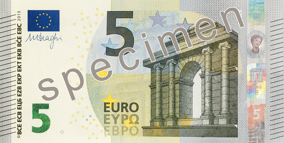 Billet D'Un Dollar, 5 Euros, Argent, Billets De Banque