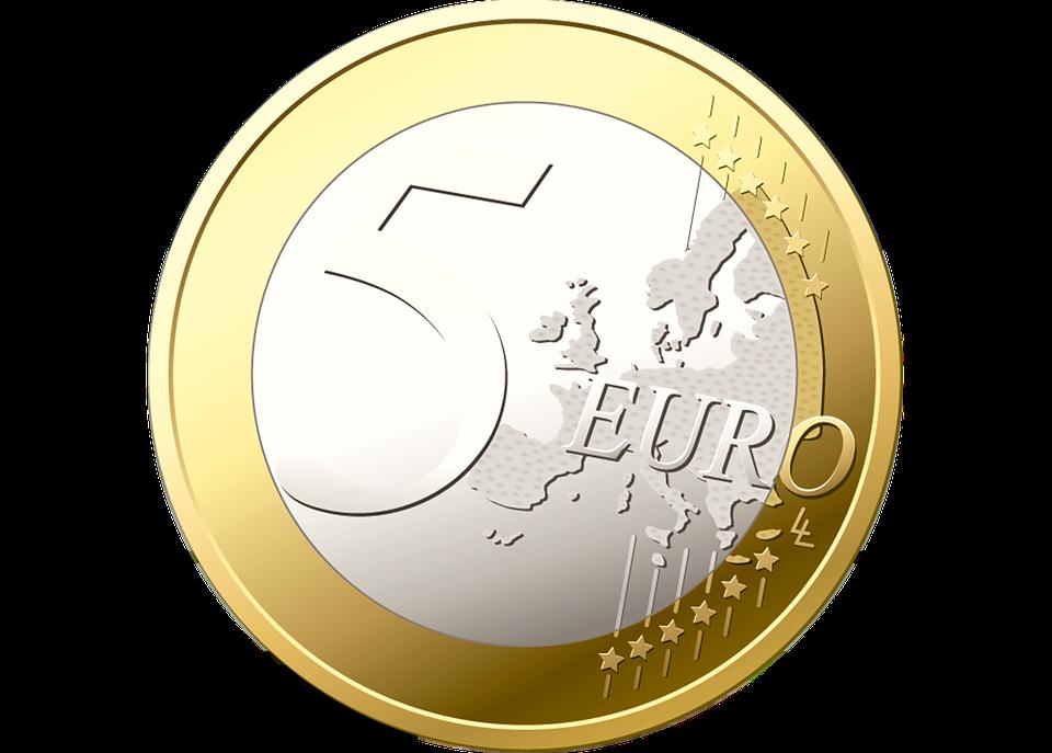 illustration gratuite pi ce de monnaie 5 euros argent image gratuite sur pixabay 166324. Black Bedroom Furniture Sets. Home Design Ideas