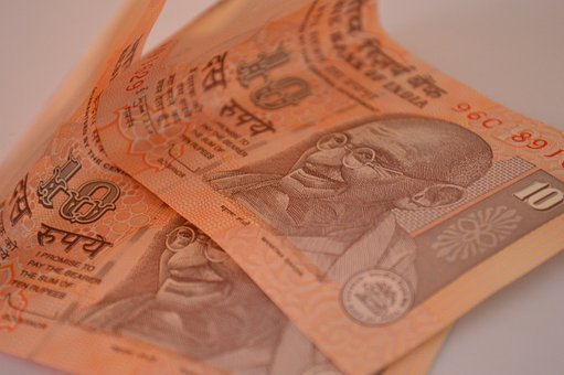 Currency, Notes, Rupee, Ten, 10, Indian